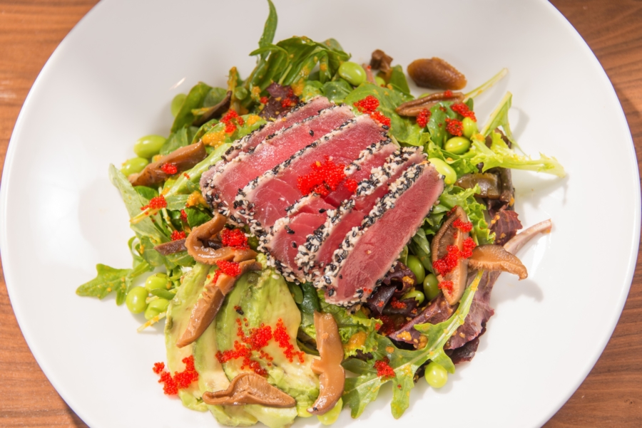 Seared Rare Tuna Salad